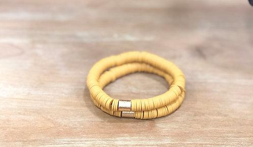 Mustard clay bracelet