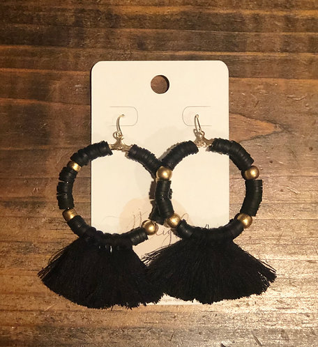 Perfect hoop tassels (black)