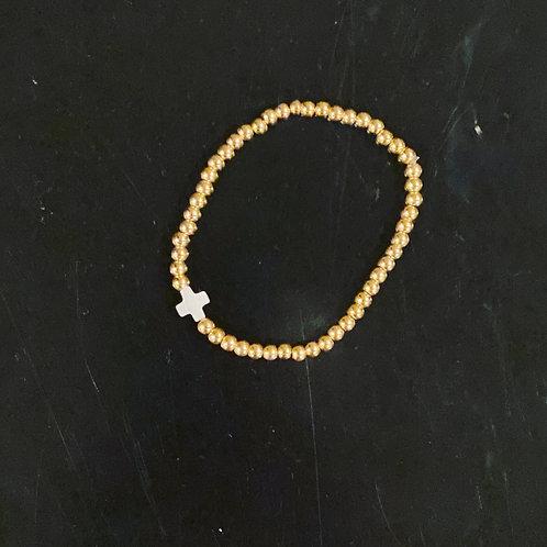 Pearl cross X bracelets