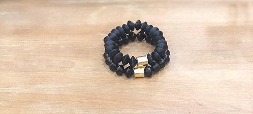 Black bicone bracelet