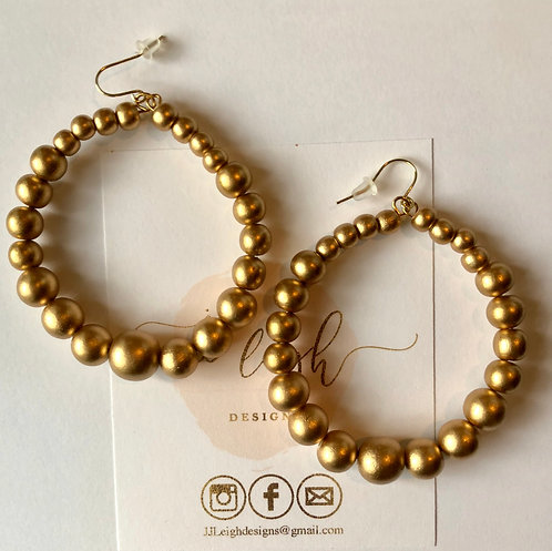 Gold wooden hoops