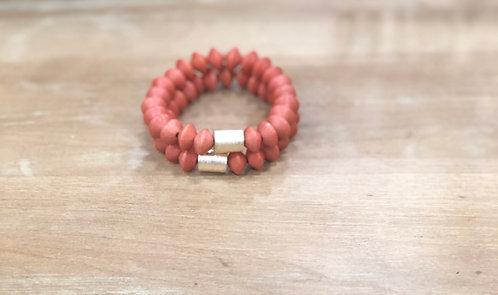 Orange bicone bracelet