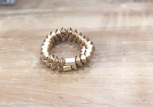 Gold bicone blacelet