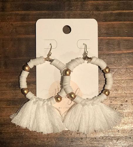 Perfect hoop tassels (white)