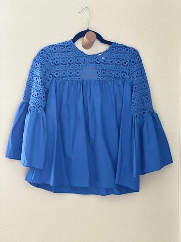 Royal blue balloon sleeves