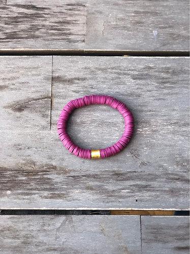 Plum vinyl bracelet