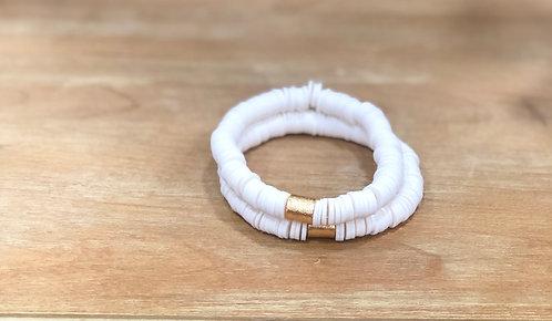 White clay bracelet