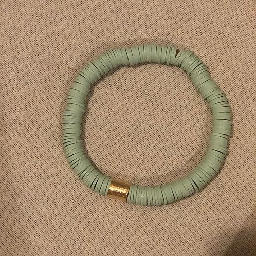 Pistachio clay bracelet