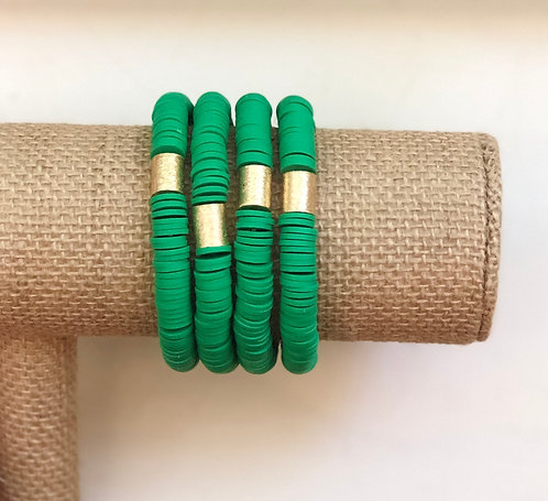 Kelly green clay stackables