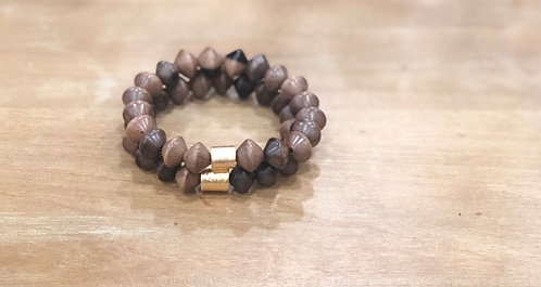 Brown bicone beads