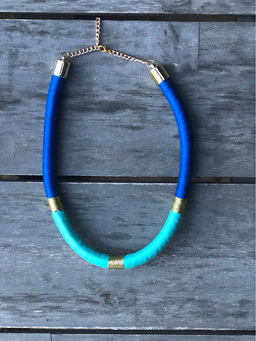 Colorful wrapped necklace