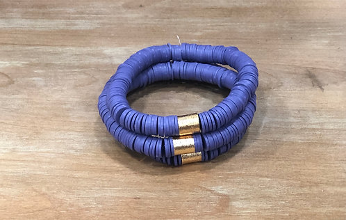 Purple clay bracelet