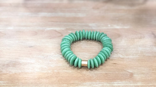 Grass green recycled bracelet