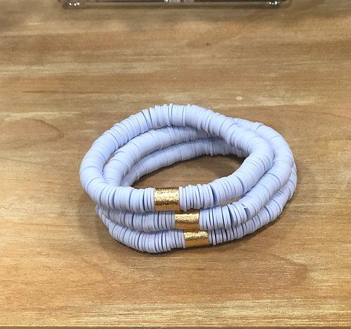 Lilac clay bracelet