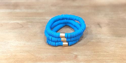 Ocean blue clay bracelet