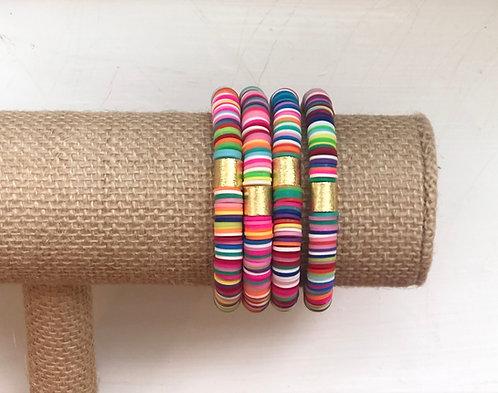 Rainbow Clay bracelet