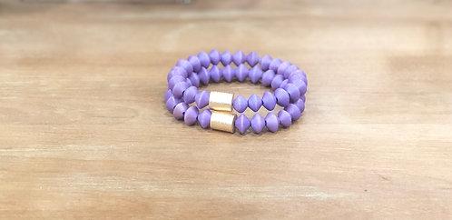 Purple bicone bracelet