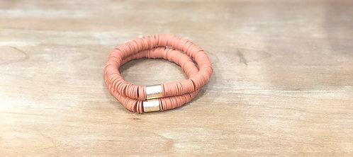 Pumpkin spice clay bracelet