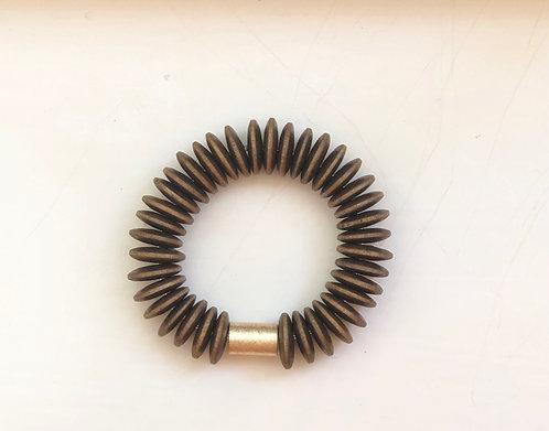 Wood saucer bracelet
