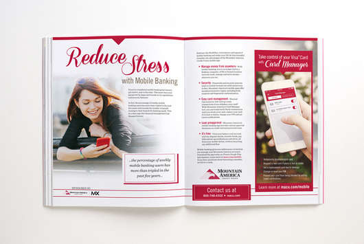 Mobile Banking Magazine Spread