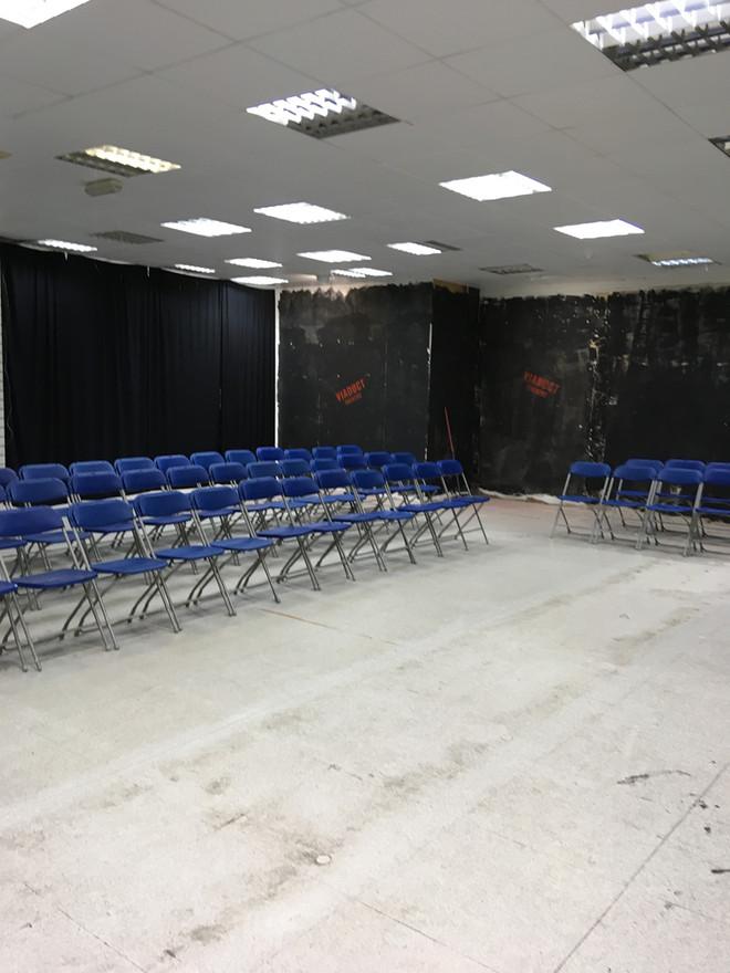 The auditorium taking shape.