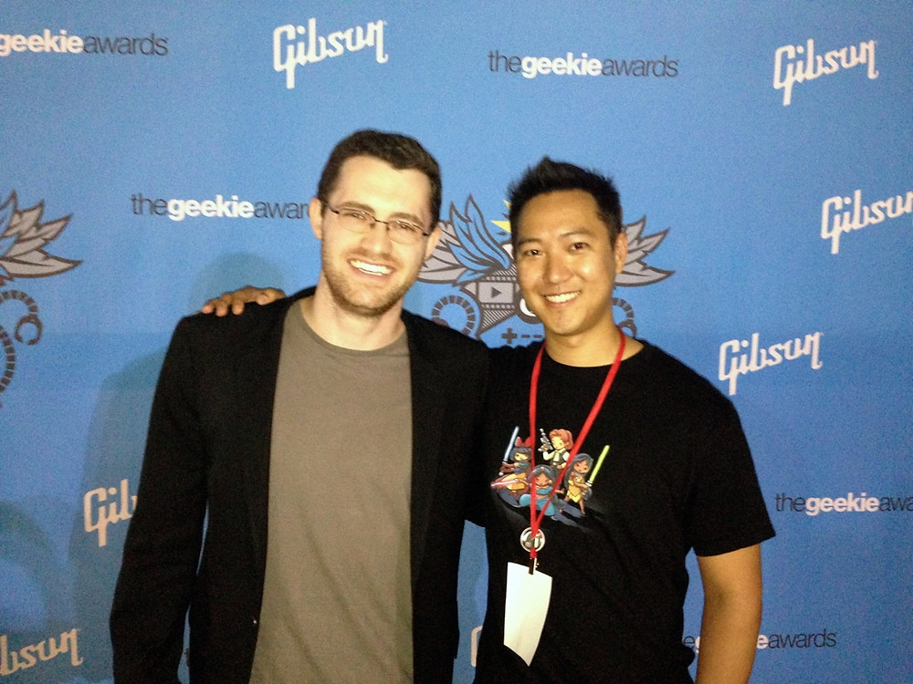 George Shaw with Austin Wintory, awarded with Best Video Game