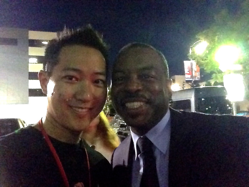 George Shaw with Levar Burton from Reading Rainbow