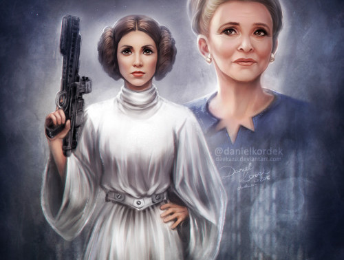 Singing Princess Leia - Tribute to Carrie Fisher