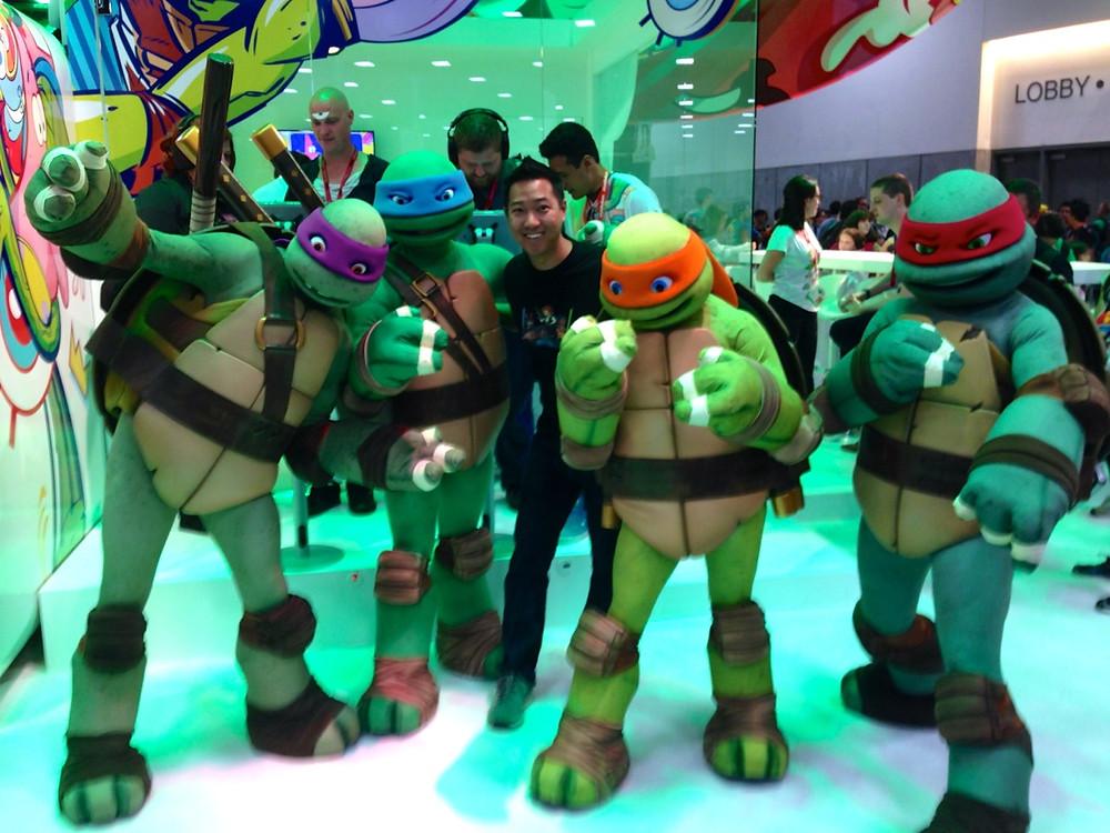 Ninja Turtles at Comic-Con Nickelodeon Booth