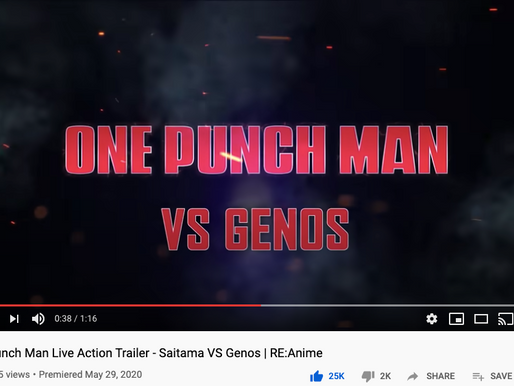 One Punch Man Live Action Trailer Hits 1 Million Views in a month