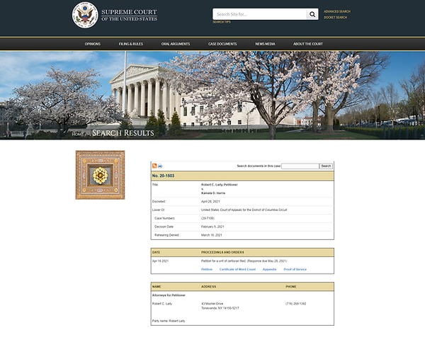 SCOTUS Website Case Search 4.30.2021