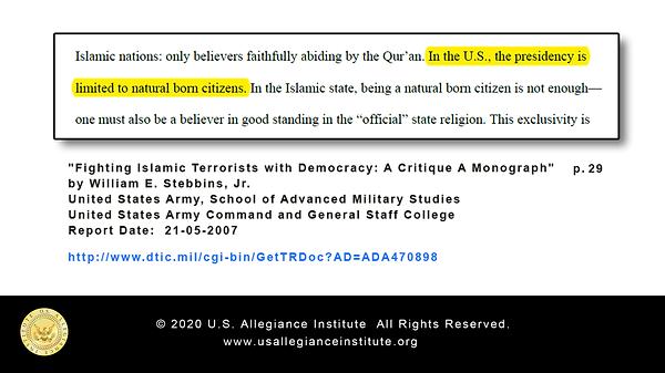 Monograph - Natural Born Citizen - Army.