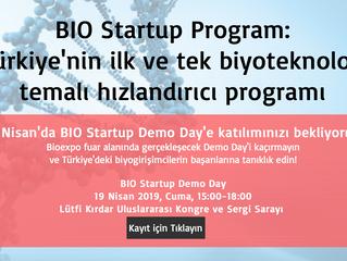 19 Nisan'da BIO Startup Demo Day'e bekliyoruz!