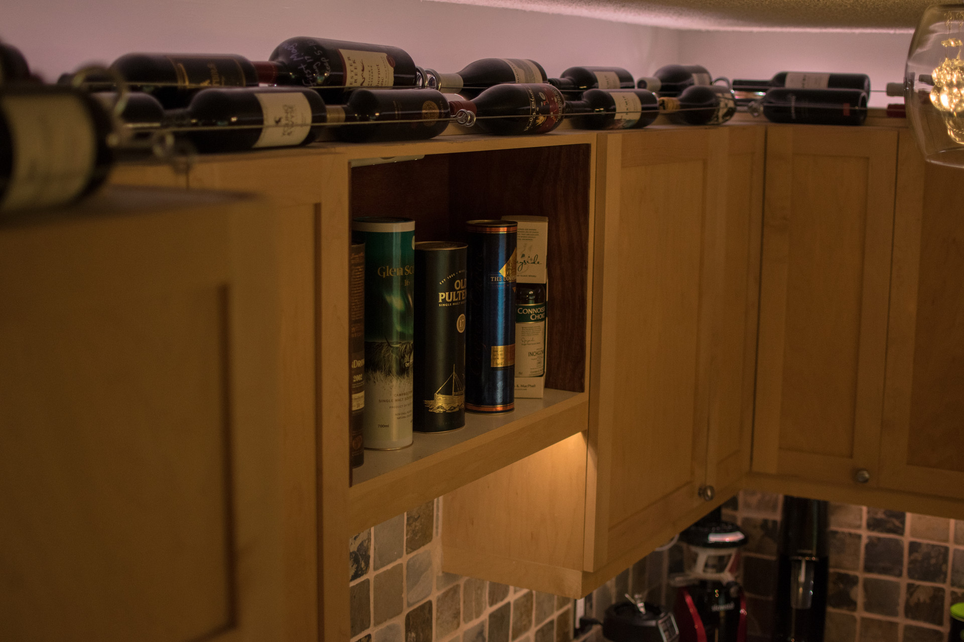 Custom wine rack and Liquor cabinet