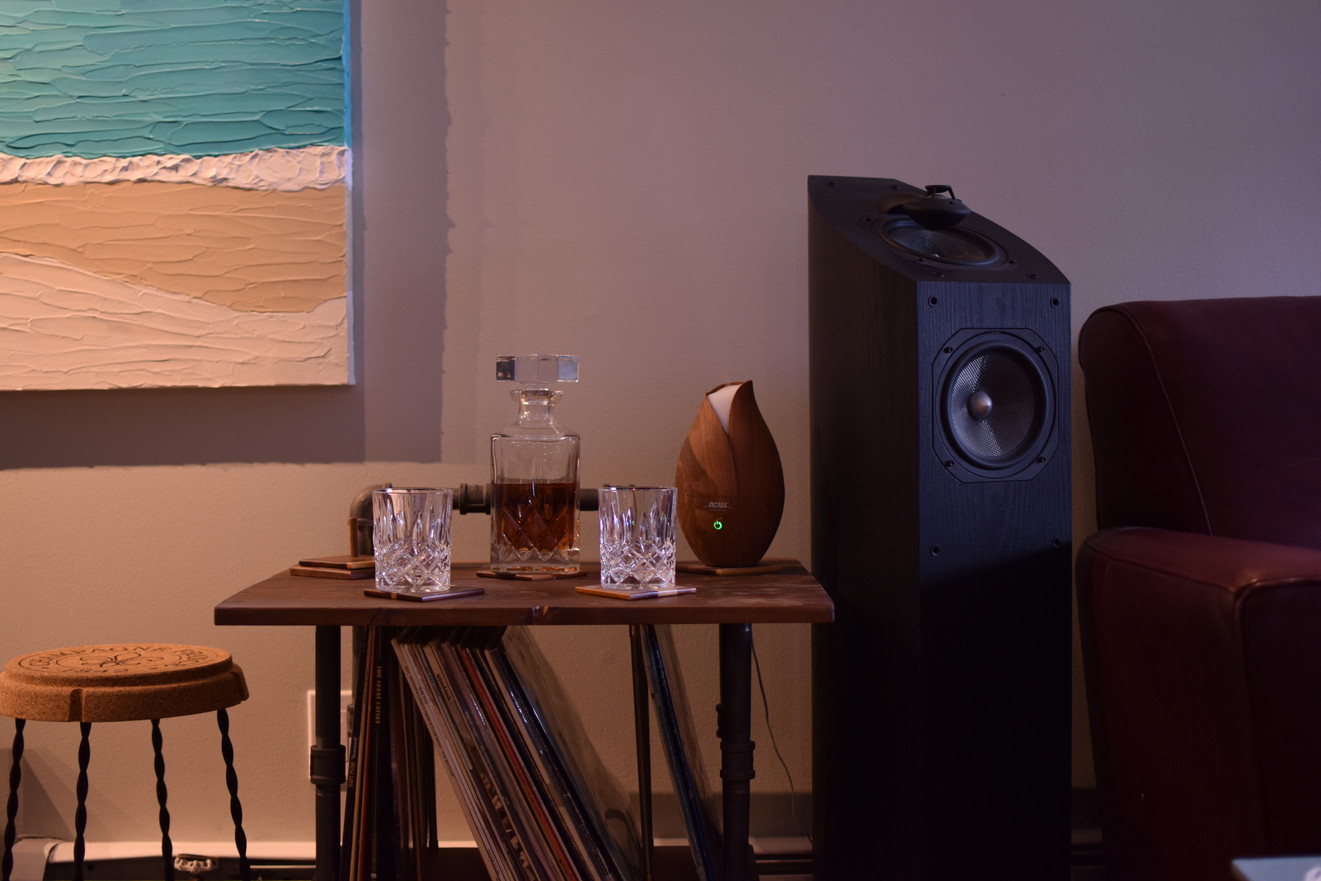 End Table with Record rack