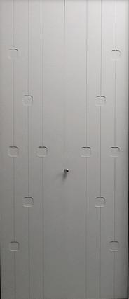 Recouvrement de porte pliante modèle Cube
