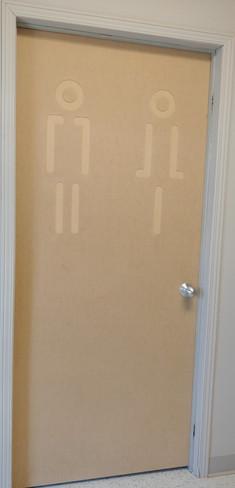 Recouvrement de porte modèle Porte toilette