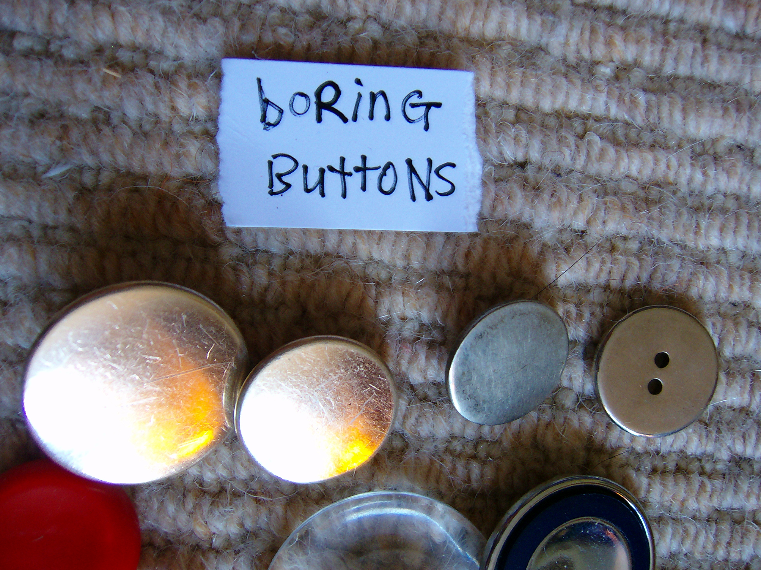 buttons = boring buttons
