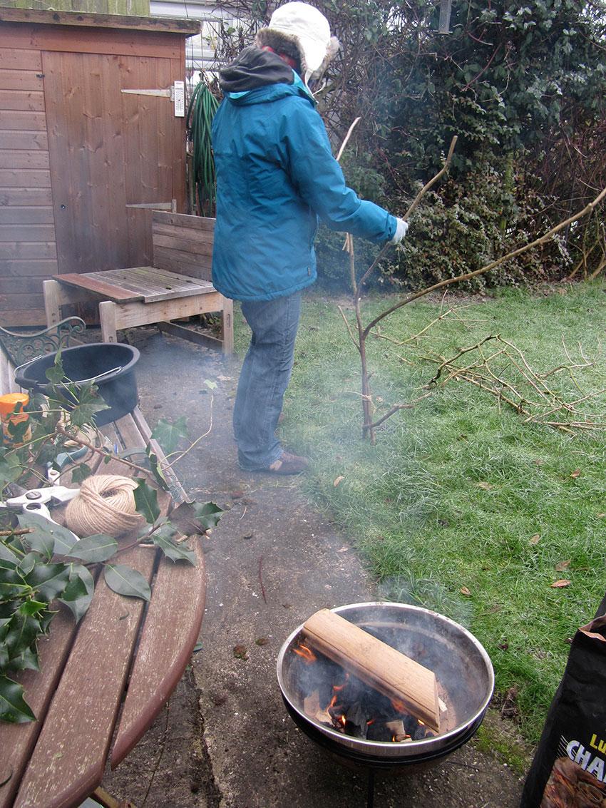 Nicky preparing Dogwood