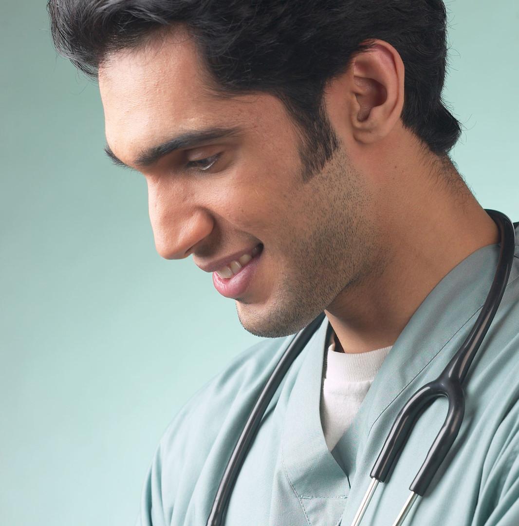 Männliche Gesundheitsdienstleister