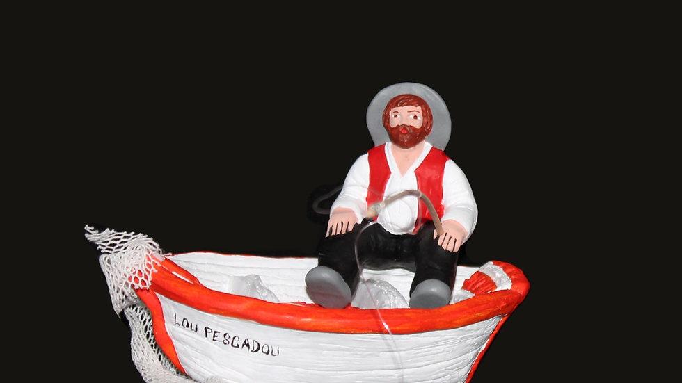 Pêcheur à la barque
