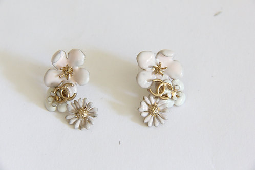 Chanel Floral CC Earrings