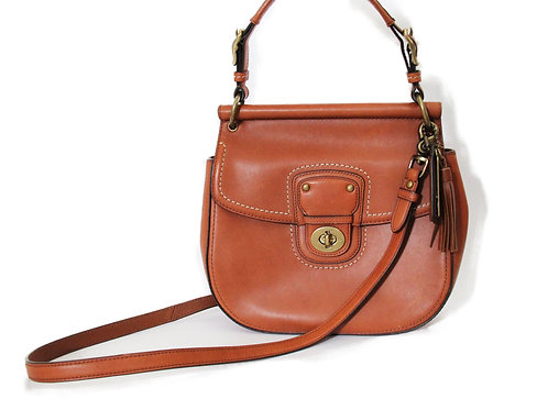 Coach 2-way Saddle Bag in Brown Leather