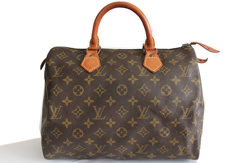 Louis Vuitton Speey 30 Tote in Monogram Featuring 1 interior pocket