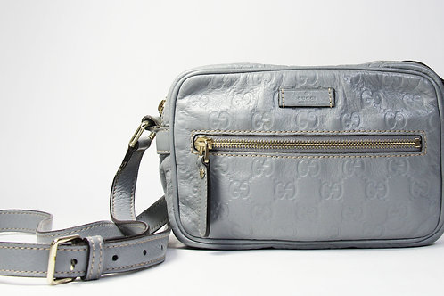 Gucci Crossbody Bag in GG Blue Leather