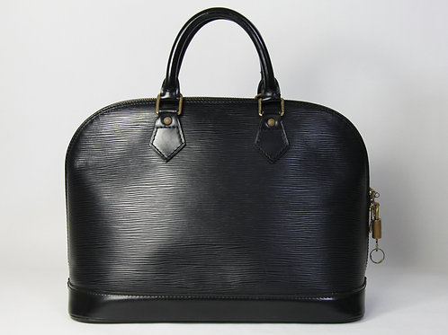 Louis Vuitton Alma Tote in Black Epi Lea