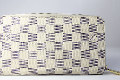 Louis Vuitton Zippy Organizer Wallet in Damier Azur Monogram