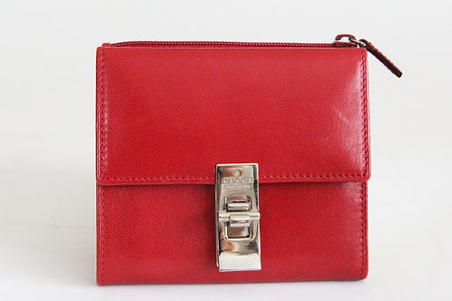 Gucci Compact Wallet in Red Leather