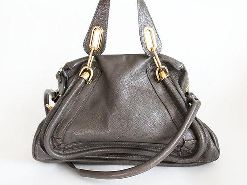 Chloe Paraty Bag in Dark Gray Leather