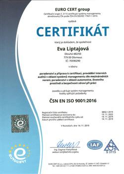 E.Liptajová ČJ ISO 9001